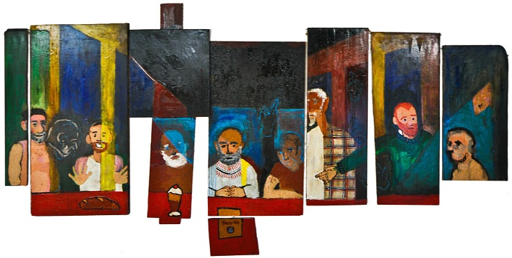 My last supper, 2012, 360x180cm, acrylic on board