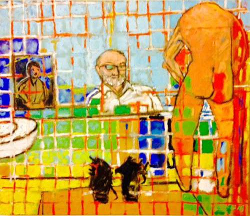 Painting for Lee Miller, 2015, 70x60cm, oil on linen