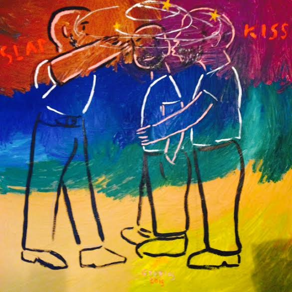 Slap kiss, 2015, 13x13cm, print on canvas