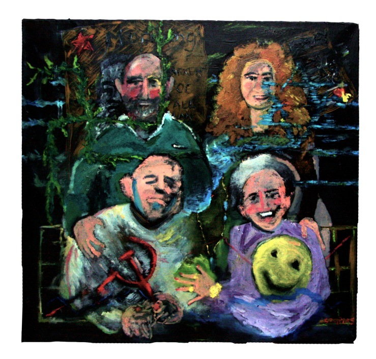 Tobias family portrait, 2013, 97x97cm, oil on canvas